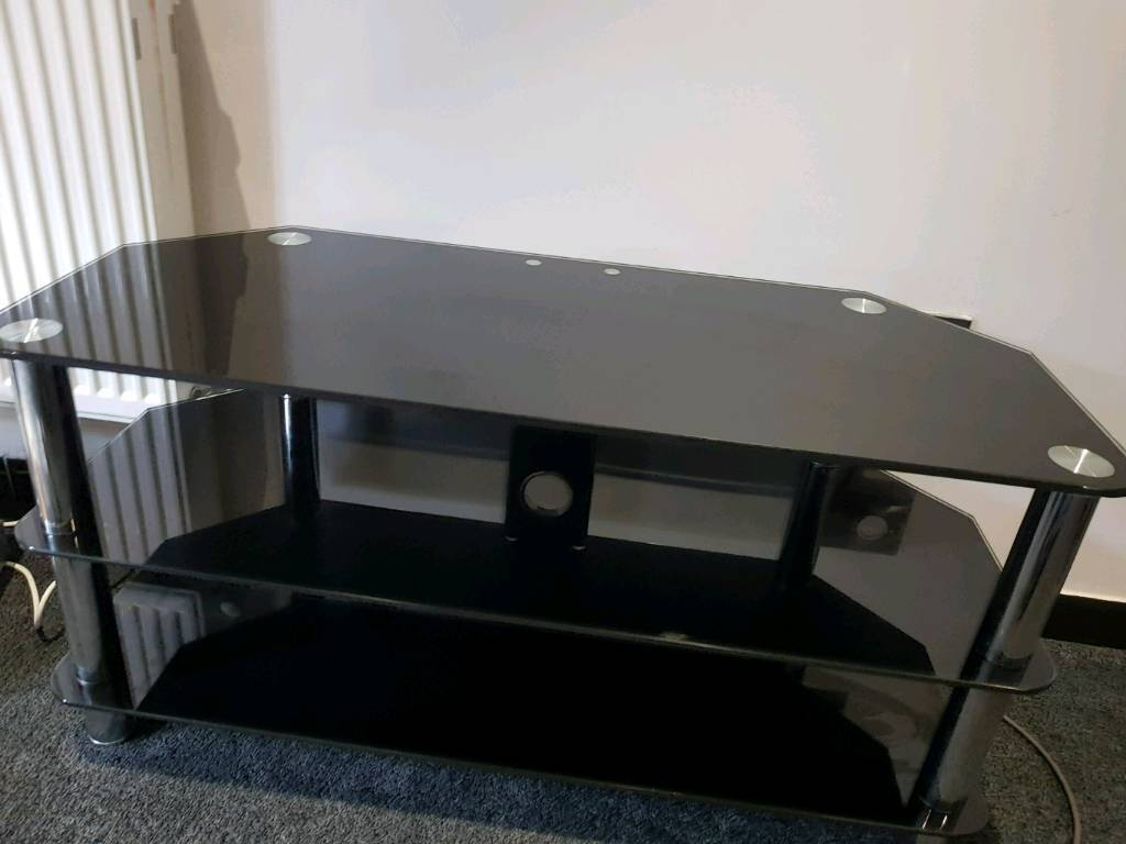 Black Glass Tv Stand 3 Tier In Huddersfield West Yorkshire