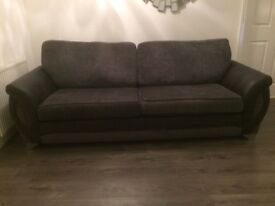 DFS Grey 4 Seater Couch and Chair