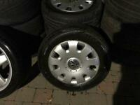 VW Golf 195 65 15 wheels with tyres