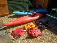 Two canoes and gear