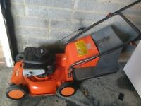 Petrol Flymo rotary lawnmower with grass box 4 stroke briggs and Stratton engine vgc gwo
