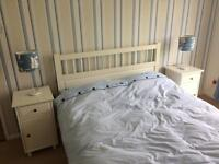 Double bed white ikea