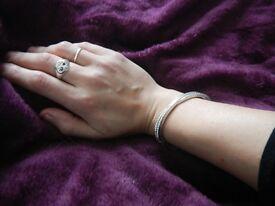 Swarovski Silver Bracelet Like New