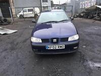 SEAT 1.4 IBIZA (RRG 02) 2002 2 OWNERS 5DR