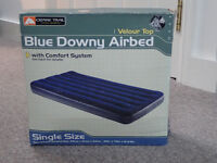 Blue Downy Airbed, Velour Top