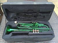 Green Ferris Trumpet (b flat) ideal begginer instrument
