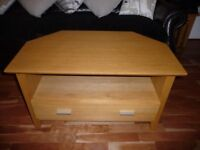 Corner TV Unit with draw - solid wood
