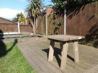 Handmade garden table (small) / garden furniture