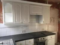 Fitted kitchen white with appliances etc