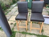 2 Breakfast Bar Chairs