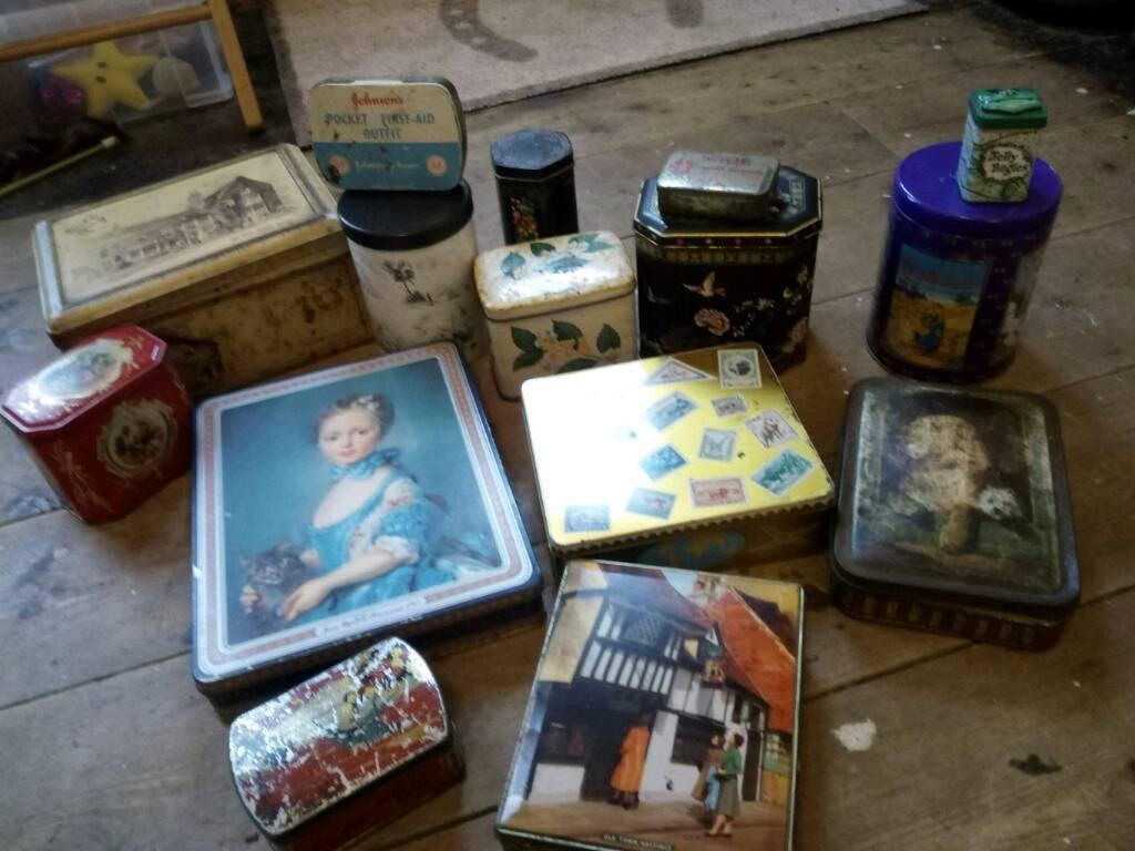 Job lot of vintage tins
