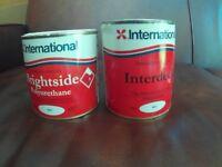 1 Tin Interdeck and 1 Tin Brightside Marine Paint.