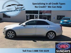 2014 Cadillac ATS LEATHER, SUNROOF, AC, CRUISE, HANDS FREE!!!!