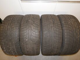 Nearly new Winter Tyres and Alloys size 245/40 R18 Ice Blazer. Used for one season only.