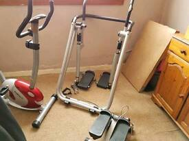 Exercise bike, Air Walker And Step Counter