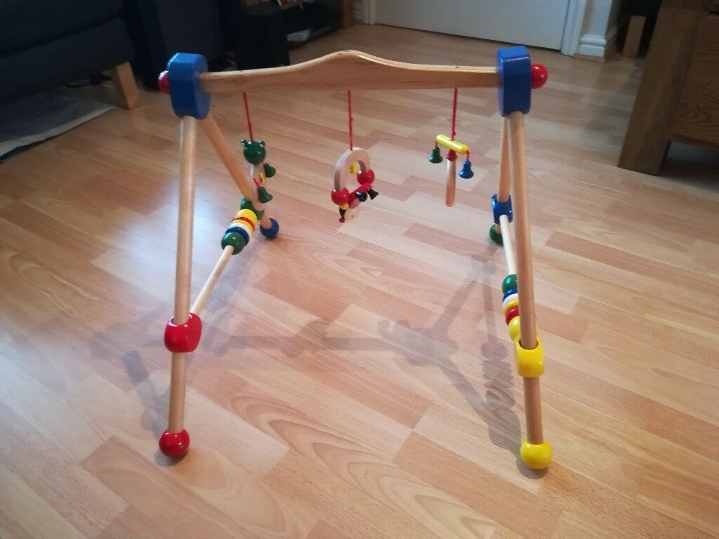 Wooden Baby Gym And A Wooden Mobile For Sale In Loughor Swansea Gumtree
