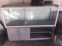 Fish tank with stand comes with light and cover. 6ft length 5ft high