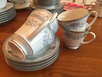 Noritake Blue Hill 4 cups and saucers