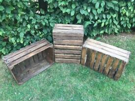 3 x Large Wooden Crates
