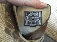 Mens / women (unisex) boots s7 from Superdry - proper hobnail boots in really good condition