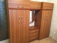 Wardrobes - 3 piece set and two side tables