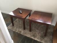 Oak side Tables x2