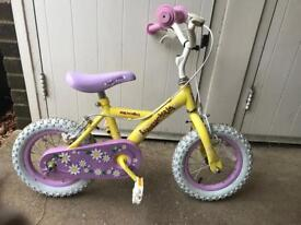 "Girl 12"" bike with stabilisers"