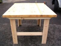 Custom made work bench built to your specifications.The pictured bench 100 cm L x 120 cm W x 80 cm H