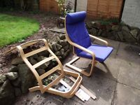 Two Ikea Poang chairs, Good condition, willing to sell individually.