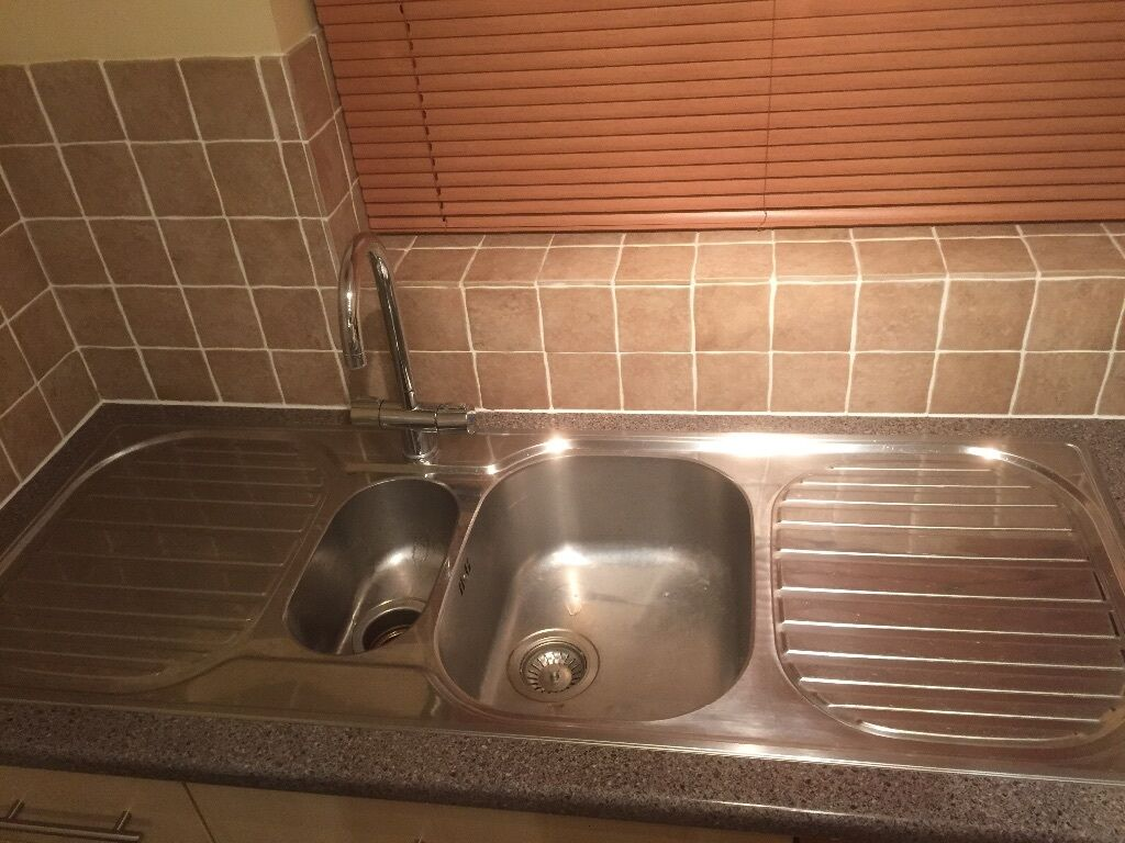 50. Franke double drainer 1 and 1/2 bowl stainless steel sink PLUS ...
