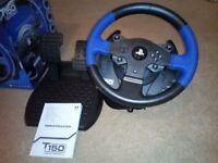 Thrustmaster T150 - Steering wheel and pedal set for PS4, PS3 and PC