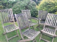 Wooden gardeb chairs