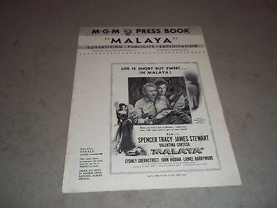 1949 MALAYA MOVIE PRESS BOOK STARRING SPENCER TRACY & JAMES STEWART - P 75