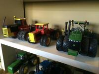 1/16 scale, four wheel drive farm toy tractors