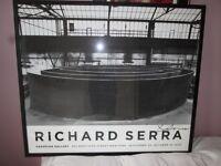 Framed poster of a Richard Serra work signed by the artist