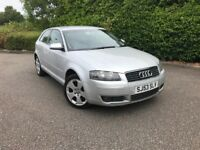 2003 audi a3 2.0 tdi sport 6 speed silver 3 door LOW MILEAGE