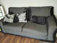 Hi im selling a 3 1 grey and black fabric sofa only 5 months old in excellant condition
