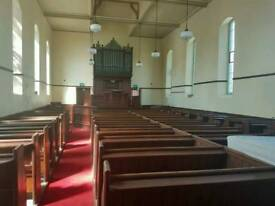 Organ and pew benches for sale