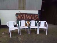 White Garden Chairs Ideal For new year Delivery Available £5