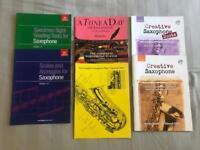 Beginner alto saxophone music books bundle