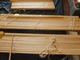 5 x wooden blinds