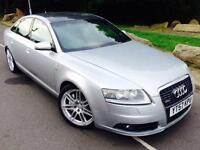 2007 57 AUDI A6 LE MANS S LINE 2.7 V6 Tdi 4 door #6 speed # leather # p/sensors # 2 owners