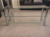 Glass TV/DVD unit