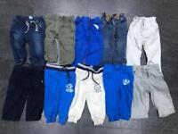 10 x boys Next & Gap trousers jeans jogging bottoms 12-18 months