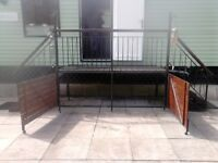 static caravan steps and balcony welshpool area