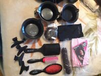 joblot of hairdressing kits,most of them are new,best for hairdressers,anything you see in pictures