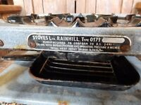 Vintage camping stove and grill