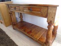 Sheesham wood hall/console table