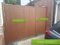 Large garden gates W2860 x H2260