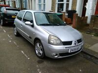 2005 RENAULT CLIO 1.2 3DR ONLY 82,000 MILES 1YR MOT LOVELY CAR NO MECHANICAL ISSUES DRIVES LIKE NEW